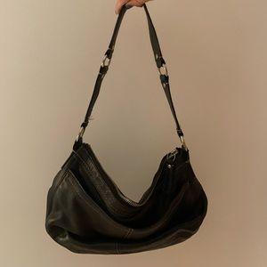 Slouch Leather Black Shoulder Bag Purse